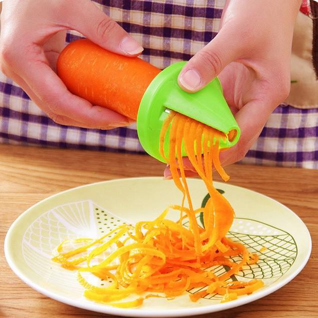 1pc Kitchen Spiral Slicer Funnel Model Carrot Cutter Vegetable Shred