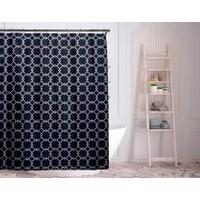 Deals on Duck River Textile 72-inch Alyssa Geometric Shower Curtains
