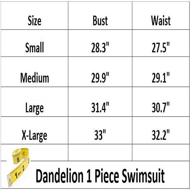 Dandelion 1-Piece Swimsuit