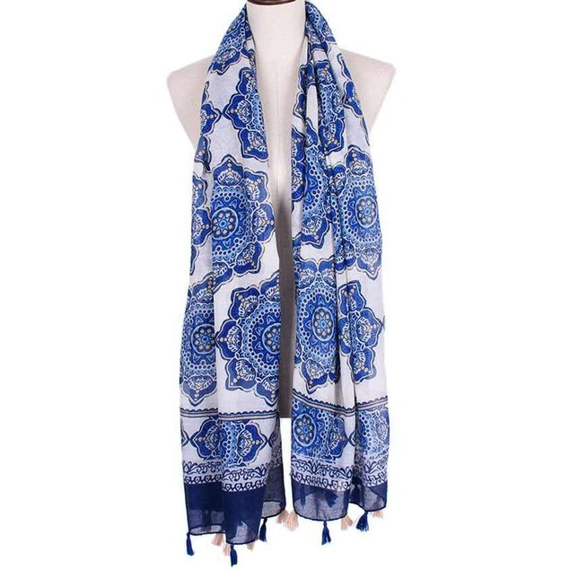 New Arrival Women Fashion Printed Satin-Silk Square Scarf Shawl B