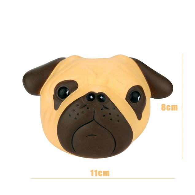 Fun Crazy Dog Scented Squishy Charm Slow Rising 8cm Simulation Kid Toy