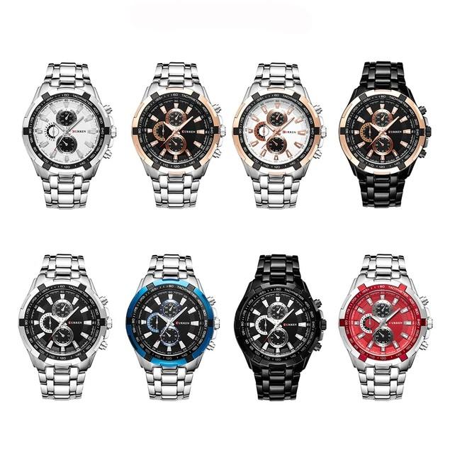 Curren Executive Stainless Steel Mens Quartz Watch - Waterproof