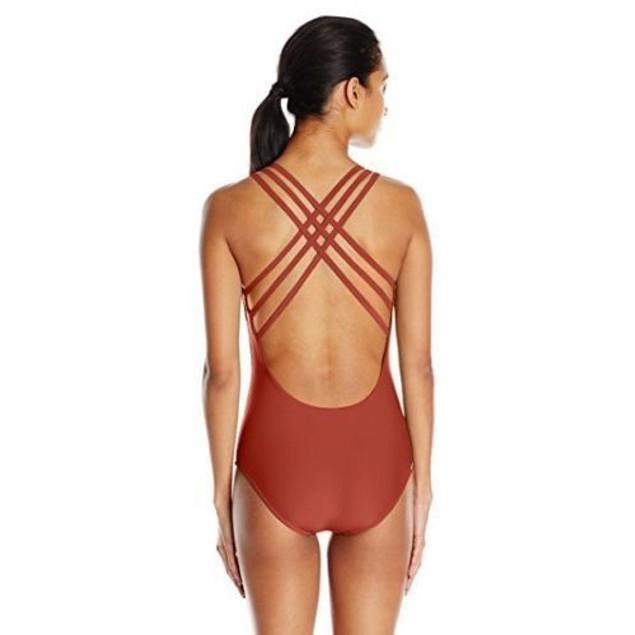 Body Glove Women's Smoothies U and Me One Piece Swimsuit, Terracotta, SZ M