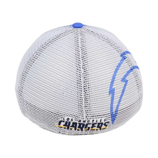 Los Angeles Chargers NFL 47 Brand Mesh Closer Stretch Fitted Hat