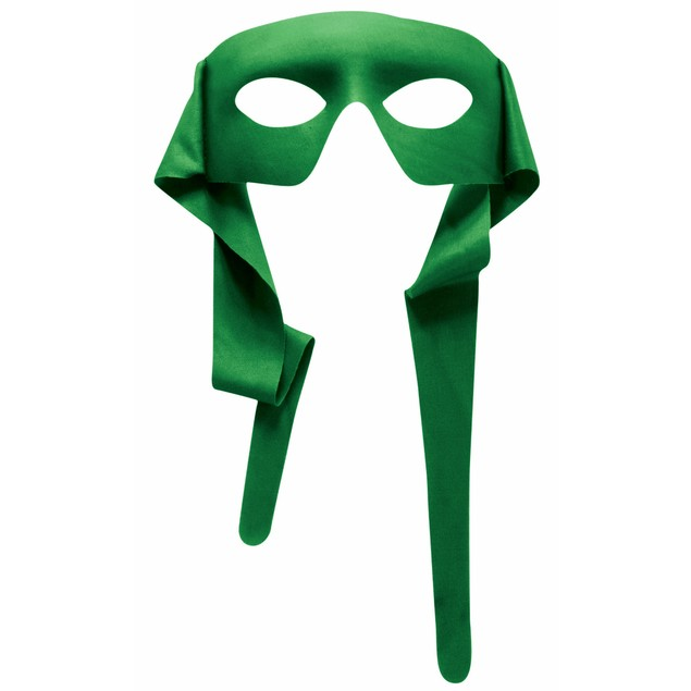 Green Eye Mask With Ties Eyemask Masquerede Party Large Adult Tie Accessory