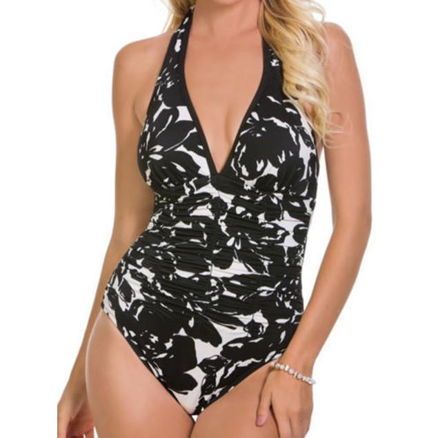 Magicsuit Women's Magnolia Blossom Kara One-Piece Black Swimsuit US SZ