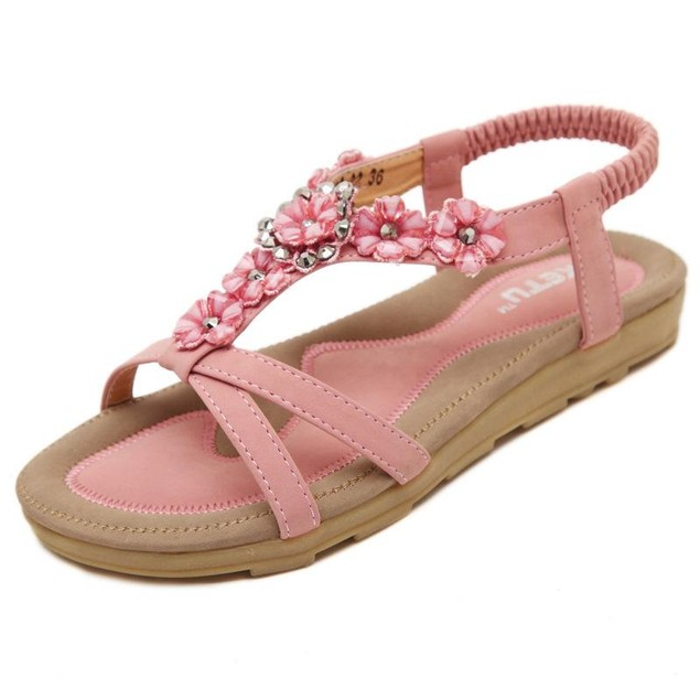 Comfy sandals - Bohemian Flower Sandals