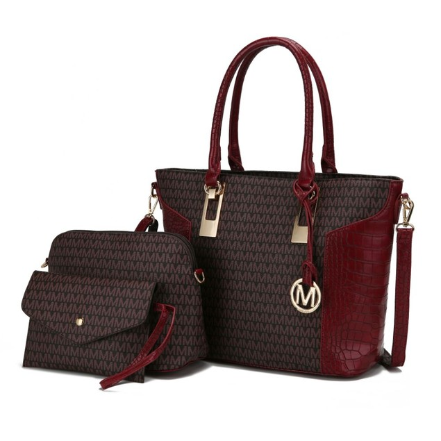 MKF Collection Shonda 3PC Tote with Cosmetic Pouch & Wristlet by Mia K.