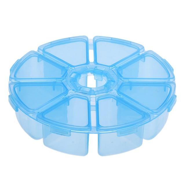 8-Compartment Pill/Parts Storage Box - Choose Color