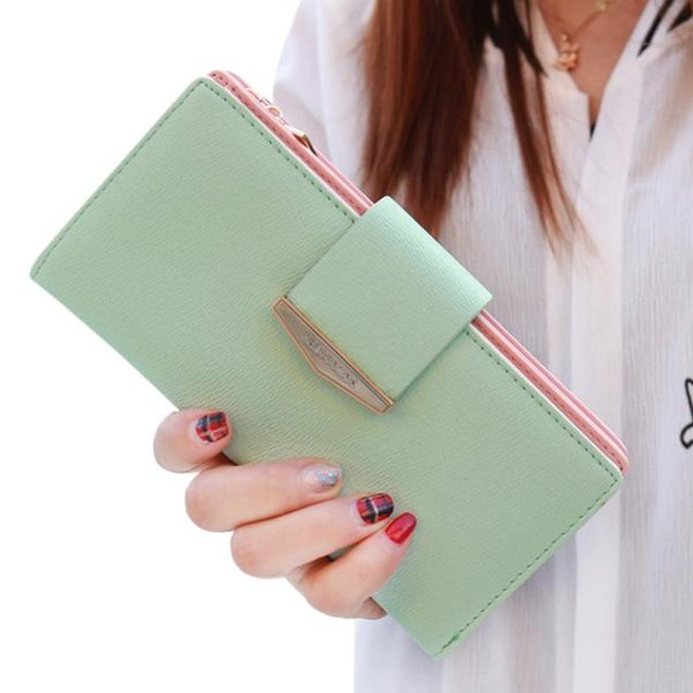 Women Bifold Wallet Leather Clutch Card Holder Purse Lady Long Handbag