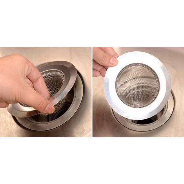 Home Kitchen Sink Drain Strainer Stainless Steel Mesh Basket Strainer