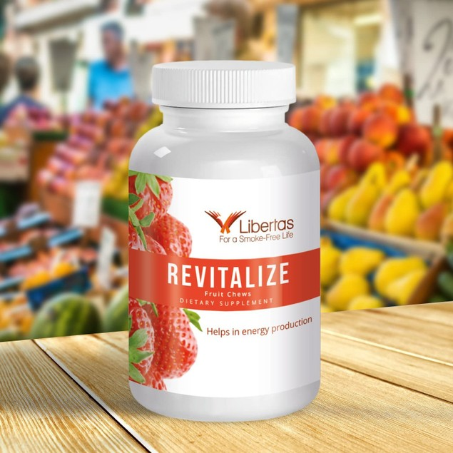 Libertas Revitalize Fruit Chews, Energy Booster Multivitamin for Smokers,