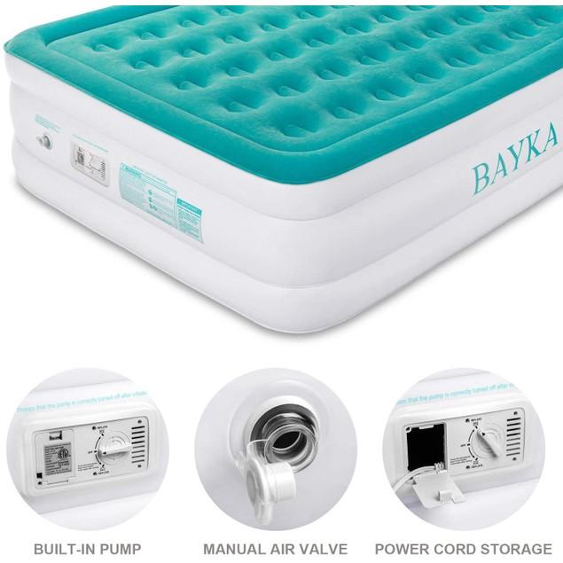 "BAYKA 18"" Height Air Mattress with Built-In Pump"