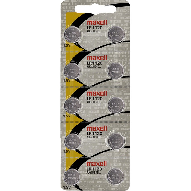 Maxell LR1120 (191) Alkaline Button Cell Battery (10 Pack)
