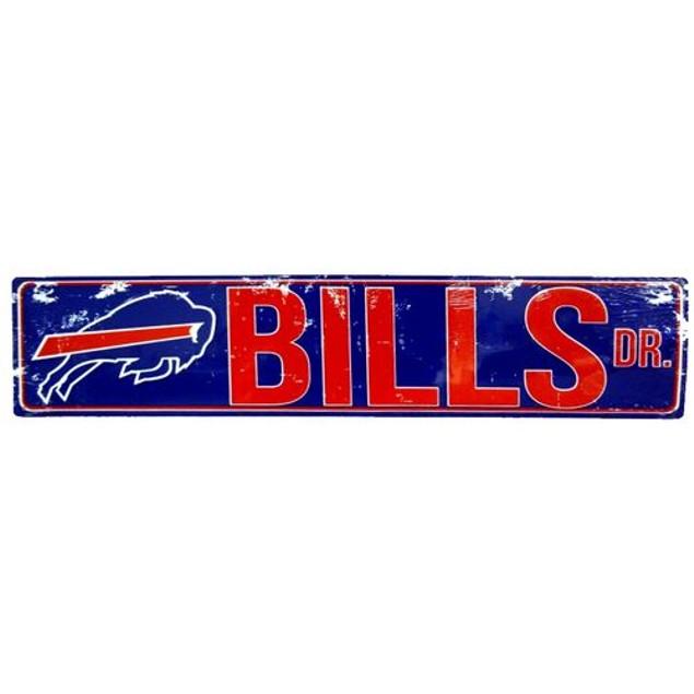 """Buffalo Bills NFL Bills Drive """"Distressed"""" Metal Street Sign"""