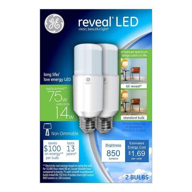 12-Pack GE Reveal LED Bright Stik Light Bulbs