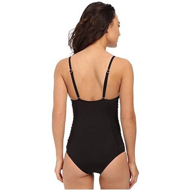 LSpace Women's Bella Full Bottom One-Piece Black Swimsuit SZ :6