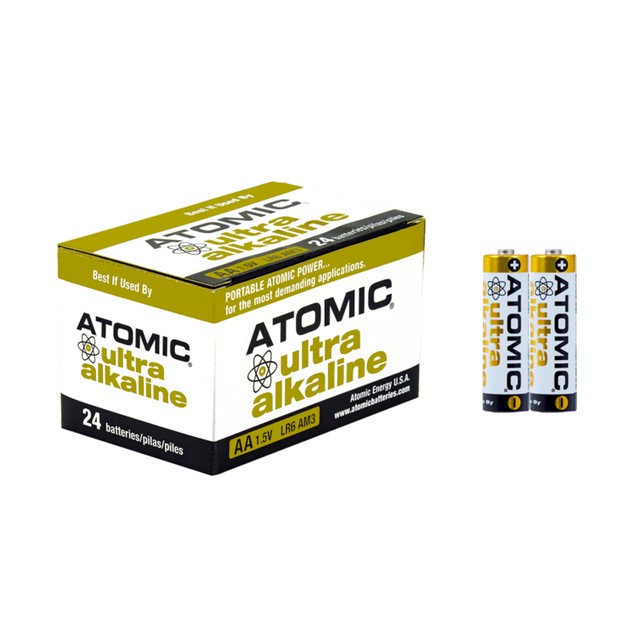 Atomic Ultra Alkaline AA LR6 AM3 1.5V Batteries (24 Batteries)
