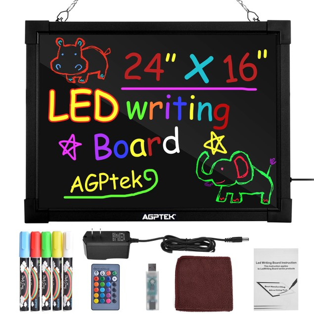 Remote Control Storefronts Erasable Writing Drawing LED message Board