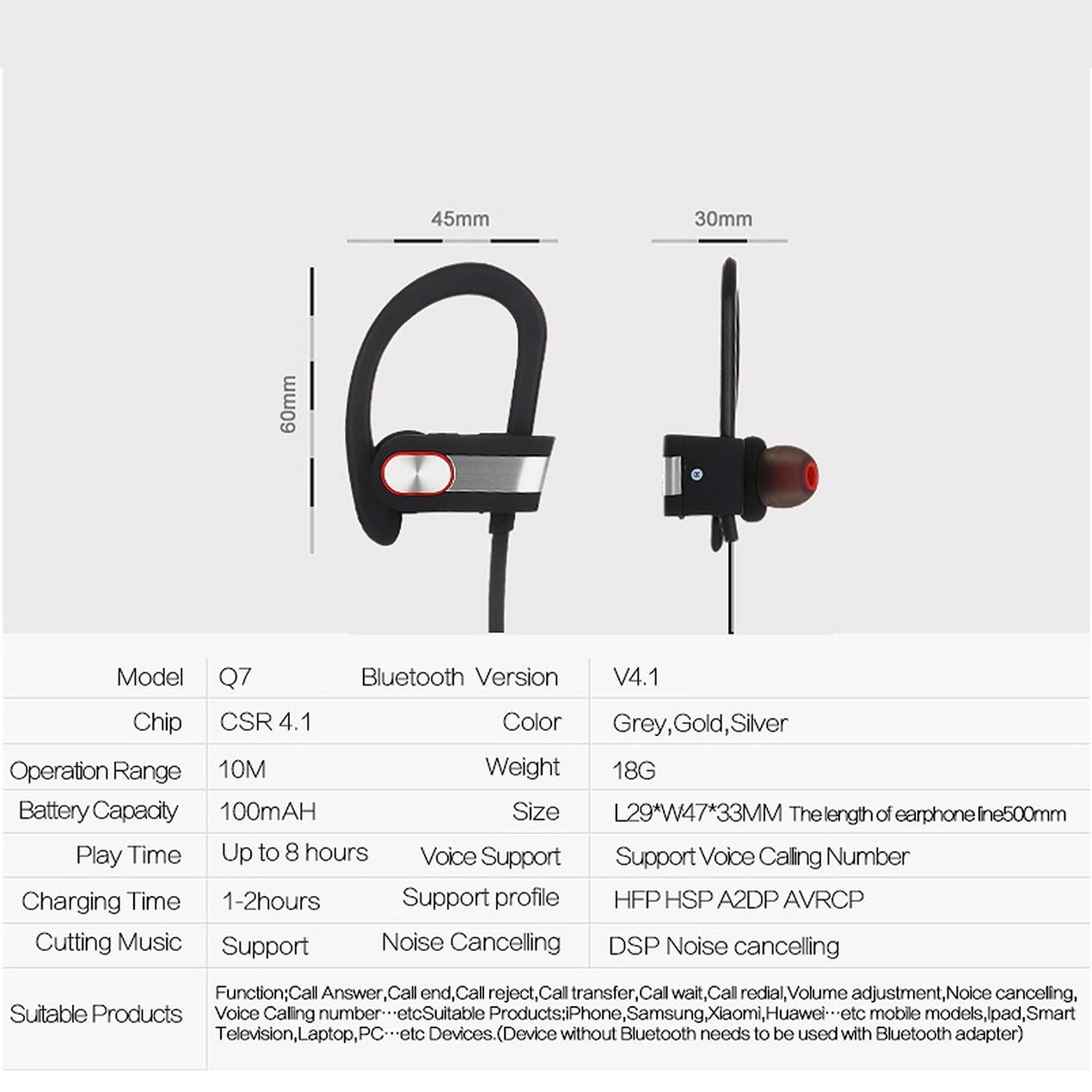 Waterproof Bluetooth Earbuds Beats Sports Wireless Headphones Tanga