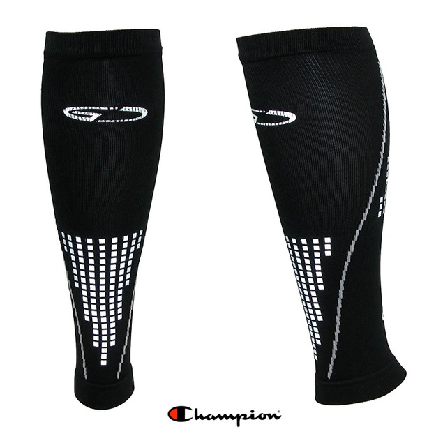 4-Pack Champion Reflective Running Compression Calf Sleeves, S/M