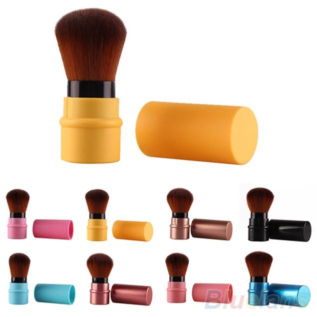 Fashion Retractable Blusher Foundation Face Powder Makeup Brush