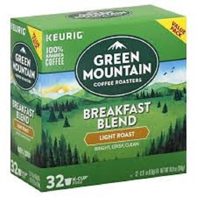 Green Mountain Breakfast Blend Light Roast Value Pack Box