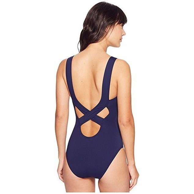 Tommy Bahama Women's Pearl Over-The-Shoulder Crossback One-Piece Sz: 8