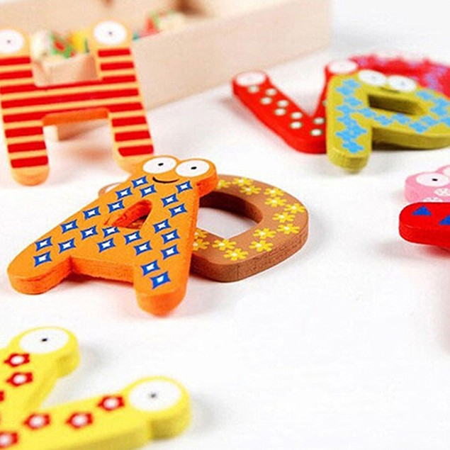 26 Alphabet Magnetic Letters Wooden Toys