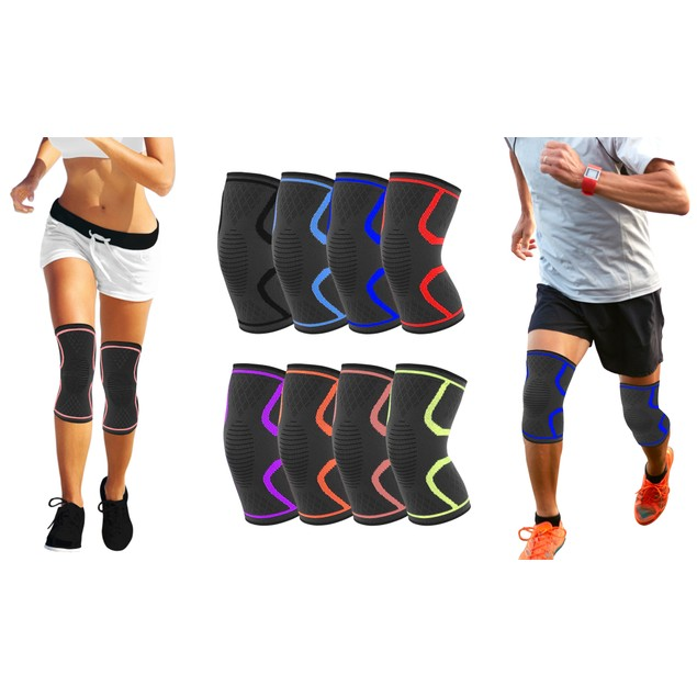 Athletics Knee Compression Sleeve Support - (2-PACK)