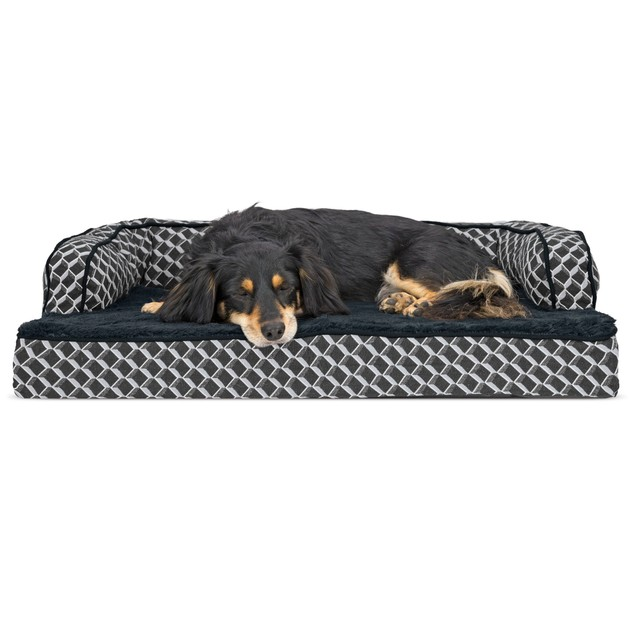 FurHaven Plush & Decor Comfy Couch Orthopedic Sofa Pet Bed