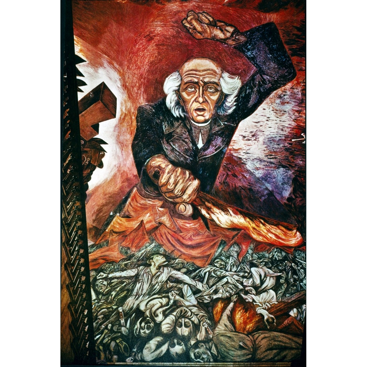 Orozco Father Hidalgo Ndetail From Jose Clemente Orozco S Mural