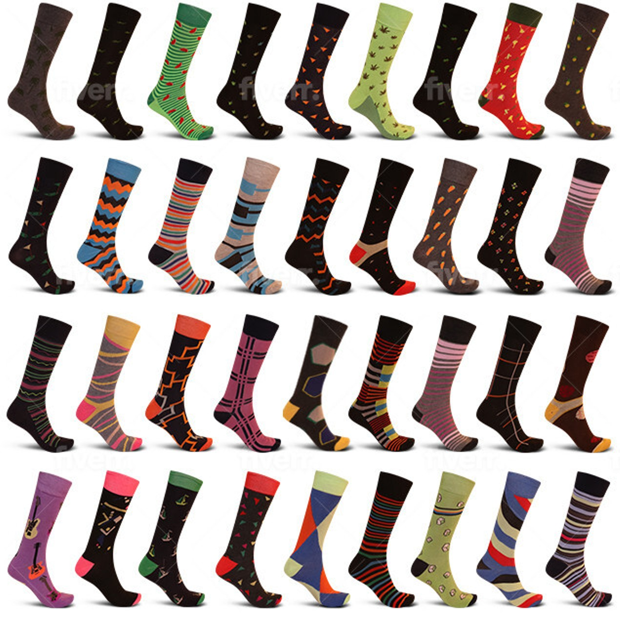 24-Pack Men's James Fiallo Premium Quality Dress Socks