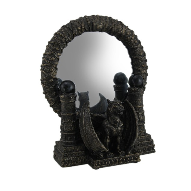 Bronze Finished Gothic Gargoyle Table Mirror 9 Vanity Mirrors