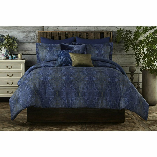 Tracy Porter Poetic Wanderlust Gigi Cotton Duvet Set, Sateen, Twin, Blue