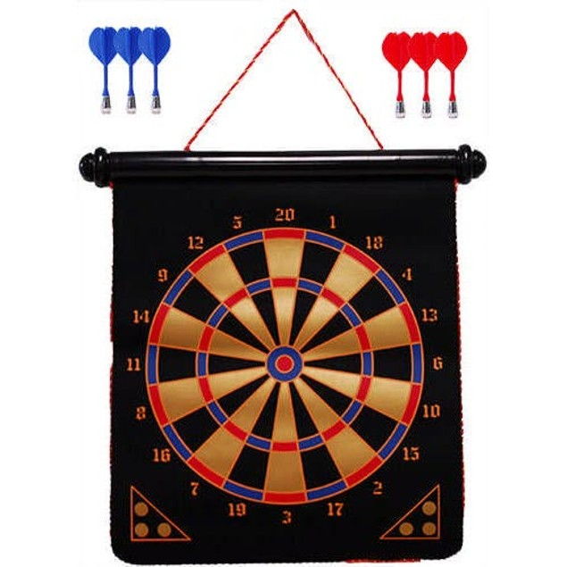 15 Inch Magnetic Dart Board, Classic Games by Go! Games