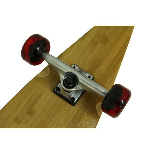 39 In. Bamboo Complete Split Tail Longboard W/Red Longboard Skateboards