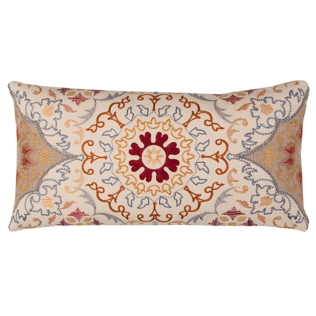 """Rizzy Home T10801 11"""" X 21"""" Throw Pillow With Throw Pillows"""
