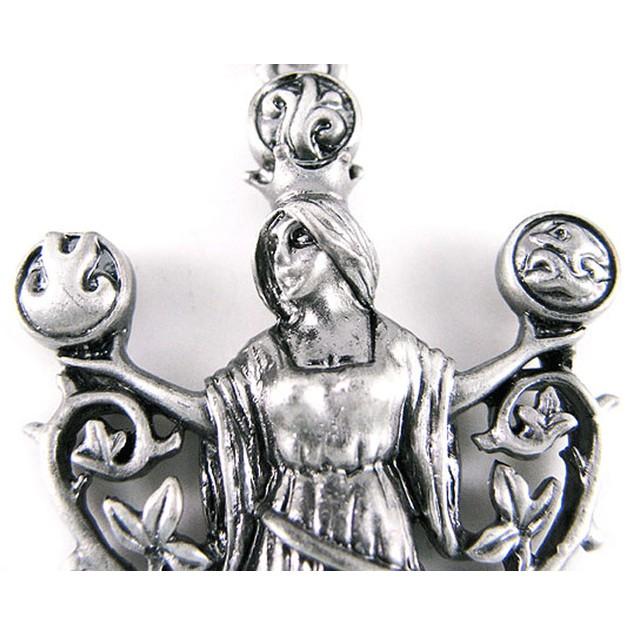`Elemental Gaia` Solid Pewter Pendant Mother Mens Pendant Necklaces