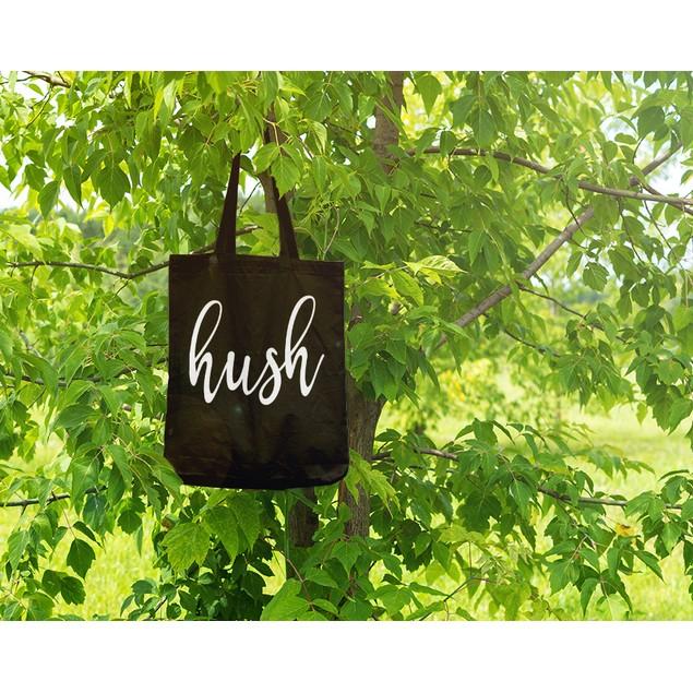 Hush Black Tote Bag