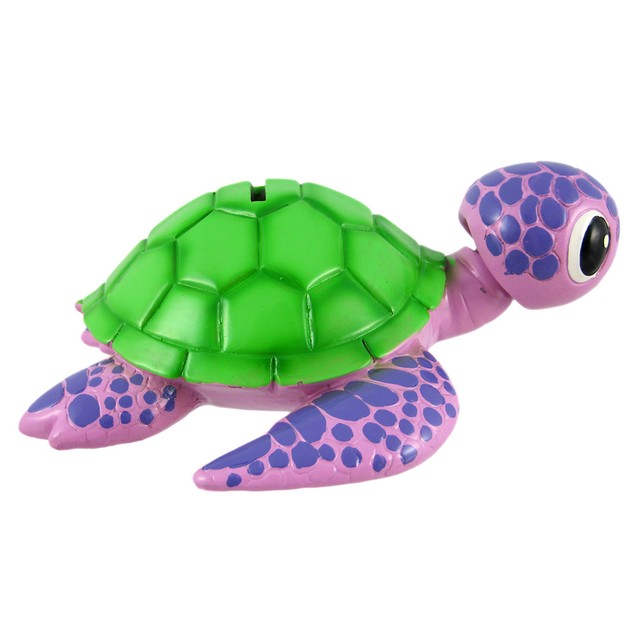 Purple / Green Sea Turtle Piggy Bank Coin Money Toy Banks
