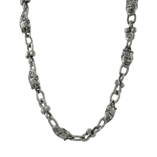 Awesome Chrome Devil Face Link Wallet Chain Jeans Mens Wallet Chains