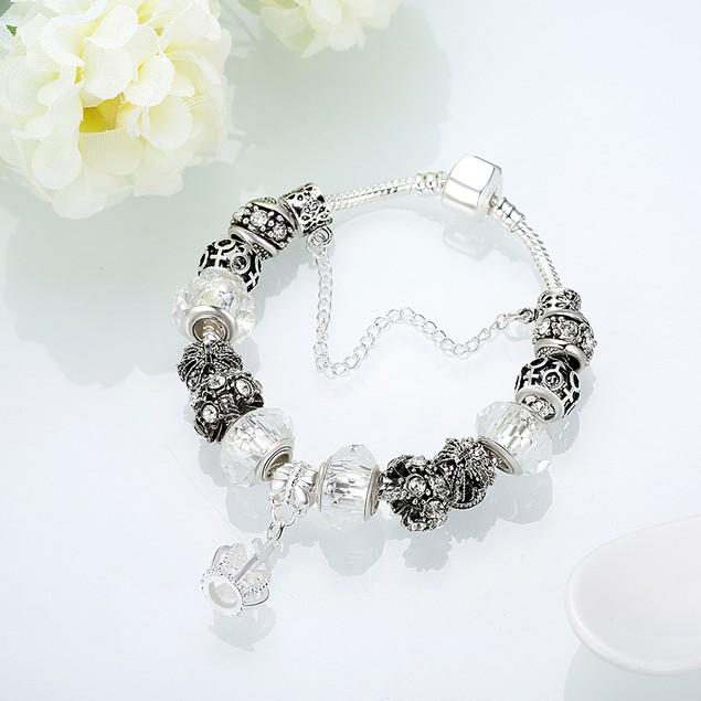 Royal Elegant White Crown Jewel Designer Inspired Bracelet