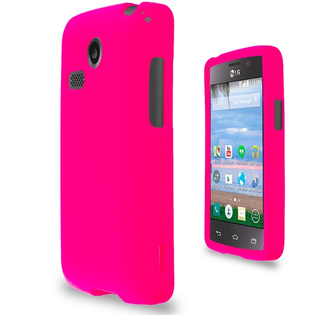 LG Sunrise Lucky L15G L16C Hard Rubberized Case Cover