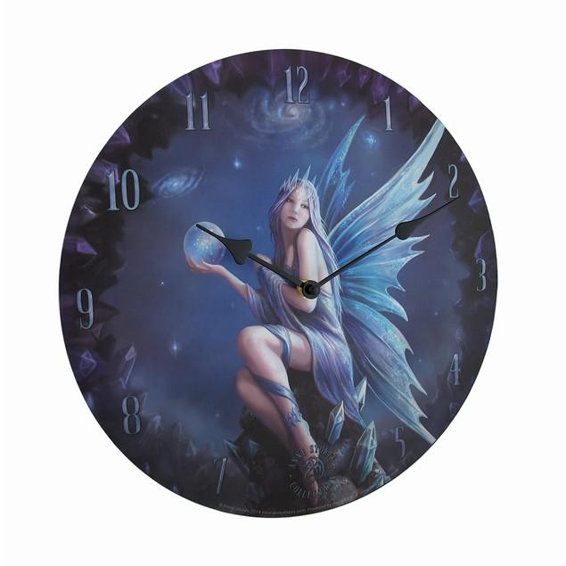 Stargazer By Anne Stakes Printed Fairy Decorative Wall Clocks