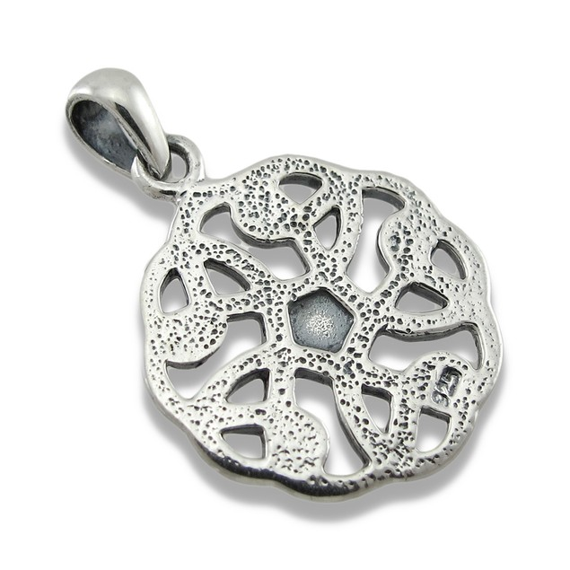 Sterling Silver Round Celtic Knot Pendant/Charm Pendants