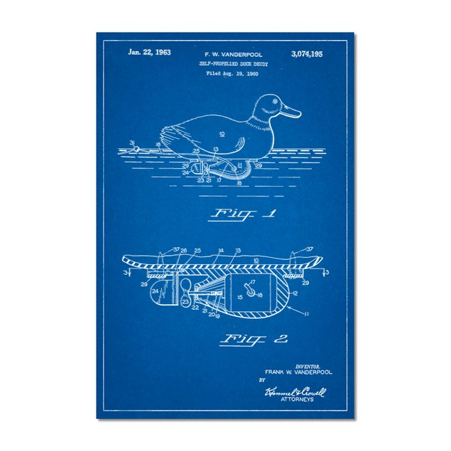 Propelled Duck Decoy Patent Poster