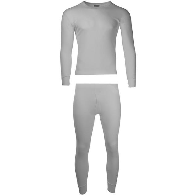 2-Piece Men's Super Soft 100% Cotton Waffle Knit Thermal Underwear Set