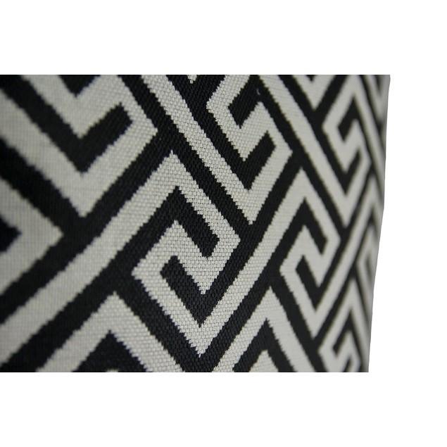 2 Pc. Black And Gray Maze Pattern Throw Pillow Set Throw Pillows