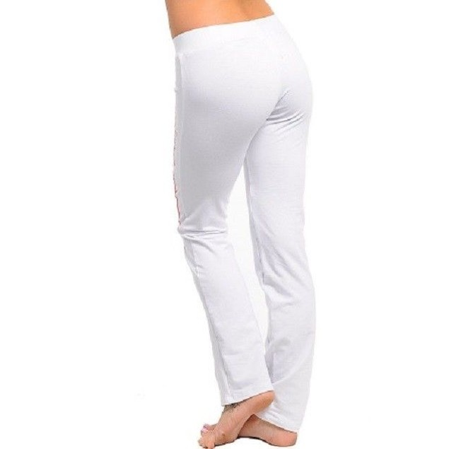 "White Active Pants ""Enjoy California"" By Hannah New"